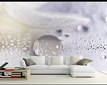 Wh Porp Large Abstract Mural Water Drop Feather 3d Tapete
