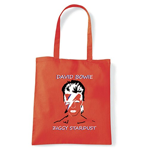 Art T-Shirt, Tasche Shoulder Ziggy Stardust Arancio
