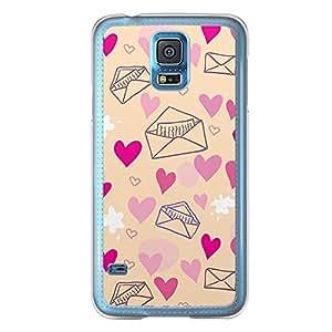 Loud Universe Samsung Galaxy S5 Love Valentine Printing Files A Valentine 172 Printed Transparent Edge Case - Beige/Pink