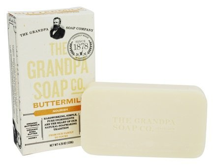 GRANDPAS SOAP Soap Bar Buttermilk, 4.25 Ounce