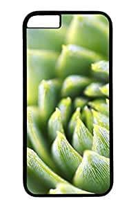iPhone 6 Case, Personalized Unique Design Protective Cover for iPhone 6 PC Black Edge Case - Beauty Green Plant