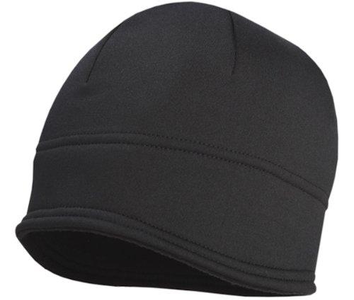(TrailHeads Contour Winter Running Beanie | Black Skull Cap For Men | Power Cap- black)