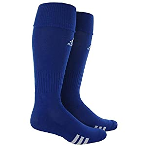 adidas Unisex Rivalry Soccer 2-Pack Otc sock, Cobalt Blue/White, Large