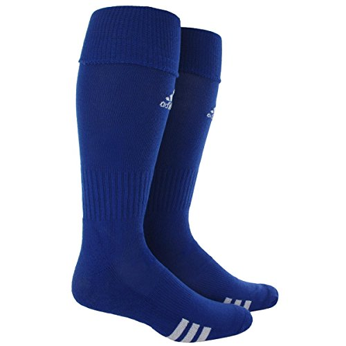 adidas Rivalry Soccer Socks (2-Pack), Cobalt Blue/White, Medium