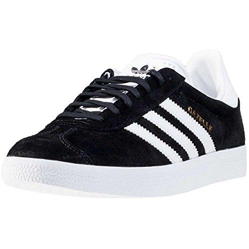 adidas Originals Gazelle Mens Trainers Sneakers Shoes (US 4, Black White Gold Metallic BB5476) - Gazelle Trainers
