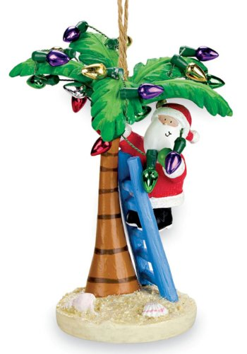 Cape Shore Coastal Santa Decorating Tropical Island Palm Tree Christmas ()