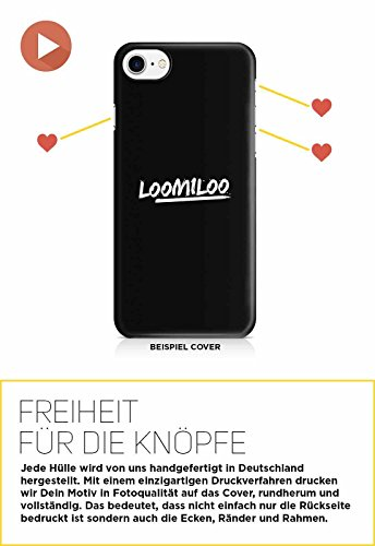 COVER Rainbow Comic auf schwarz Design Handy Hülle Case 3D-Druck Top-Qualität kratzfest Apple iPhone 8 Plus