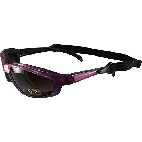Chix Freedom Padded Sunglasses Pearl Purple Frames Gradient Grey Lenses by Chix