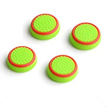 Gotor 4 X Silicone Analog Thumb stick Cap Grips Cover For Xbox 360 Xbox One PS3 PS4 WII Controller Color Red with Green