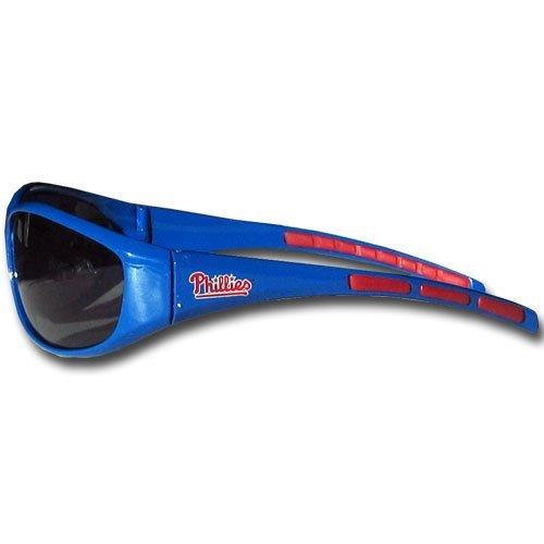 MLB Philadelphia Phillies 3-Dot Wrap Sunglasses