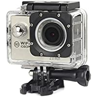 ESCENERY New Full HD 1080P WIFI H16 Action Sports Camera Camcorder Waterproof 32G Memory Card+1200 Million High-Definition Wide-Angle Lens (Silver)