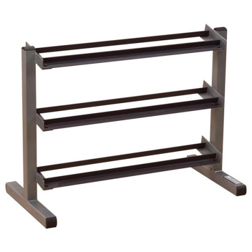 Body Solid GDR363 3-Tier Horizontal Dumbbell Rack by Body-Solid