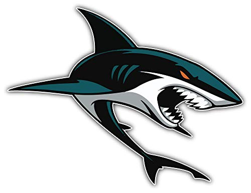 (skyhighprint San Jose Sharks NHL Hockey Sport Decor Vinyl Print Sticker 14'' X 10'')