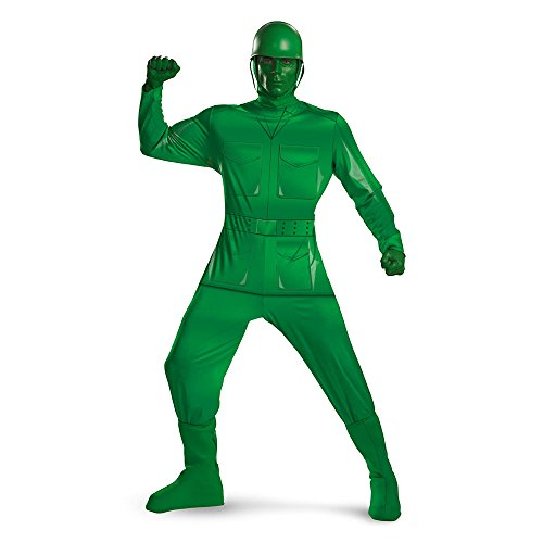 Deluxe Green Army Man Adult Costume - XX-Large -