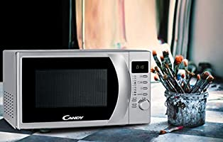 Candy CMG 2071 DS, Microondas con Display Digital, 8 Programas Automáticos, 700 W, 20 L, Silver