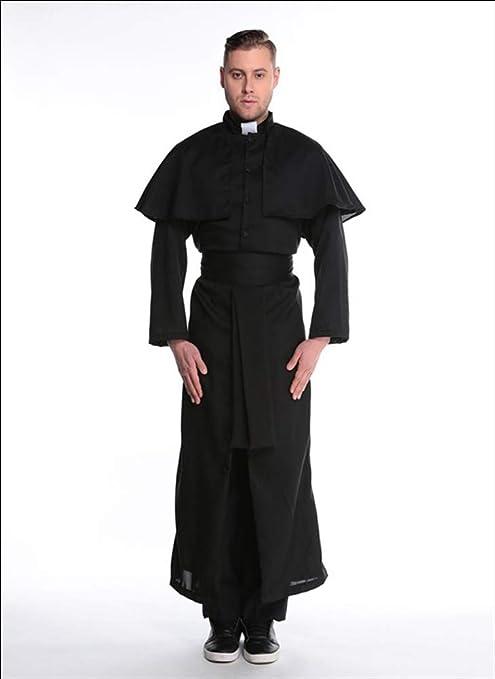 JOPLEC Negro Capa Halloween Cosplay Disfraz De Virgen María ...