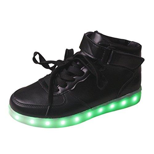 (Present:kleines Handtuch)JUNGLEST® Unisex-Erwachsene LED Leuchtende Turnschuh Schwarz 2