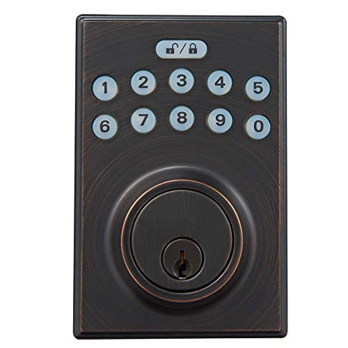 AmazonBasics Contemporary Electronic Keypad Deadbolt product image