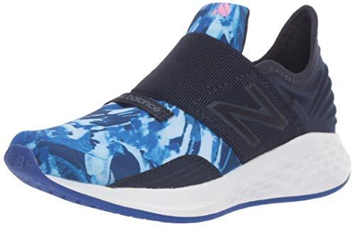 New Balance Girls' Roav V1 Fresh Foam Running Shoe, Pigment/Guava, 2.5 M US Little Kid ()
