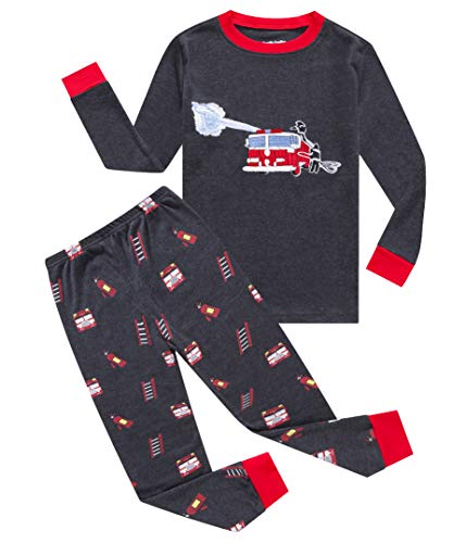 e Boys Fire Truck Pajamas Sets 100% Cotton Toddler Kid 4T ()