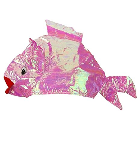 Cool Iridescent Fish Hat Pink