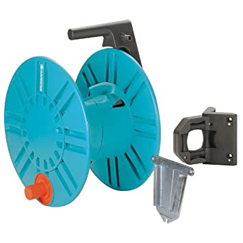 Gardena 2650 164 Foot Wall Mount Removable Garden Hose Reel With Hose Guide