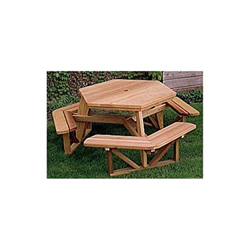(Woodworking Project Paper Plan to Build Hexagon Picnic Table)