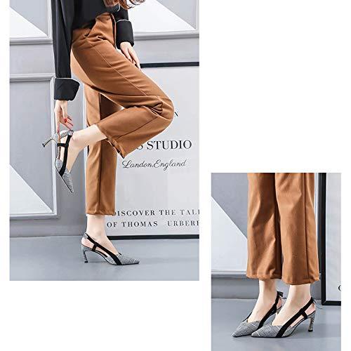 Noce Chatons Les Carreaux Chaussures Mariage De Femmes Bal Toe Zpffe De À Robe Sandale Cravate De Papillon Pour Talons gxwqtT