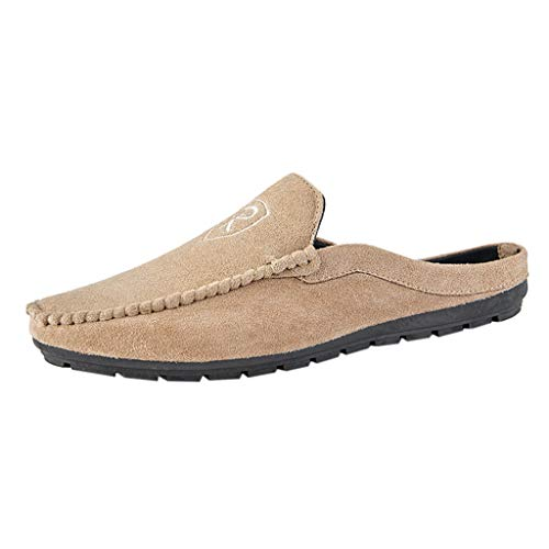 (Slip On Mules Casual Shoes Men,Mosunx Athletic Lightweight Breathable Non-Slip Suede Solid Sneakers Outdoor Easy Walking Shoes (9.5 M US,)