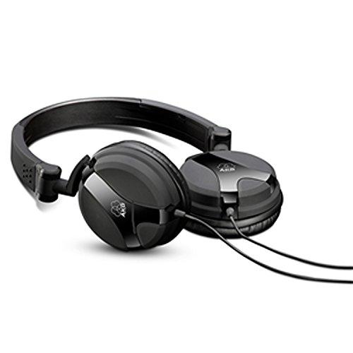 AKG K518 Geschlossener Hochleistungs-DJ-Kopfhörer mit 3D-Axis-Faltmechanismus und Apple iOS Lautstärkeregelung / Mikrosteuerung Kompatibel mit Apple und Android Geräten - Schwarz