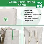 Toto-Piccinni-Lettino-Prendisole-KAMP-Pieghevole-Leggero-Alluminio-Cuscino-e-Borsa-Zaino-Blu