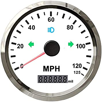 ELING Waterproof Digital GPS Speedometer Odometer for Auto Marine Truck with Backlight 2 9-32V 52mm