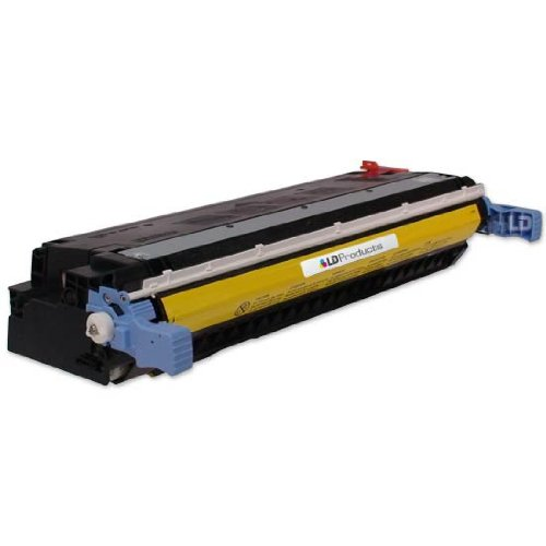 LD © Remanufactured Replacement Laser Toner Cartridge for Hewlett Packard C9732A (HP 645A) Yellow, Office Central