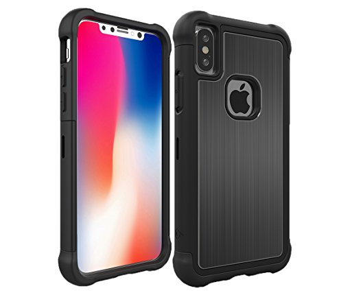 - iPhone X & XS Tungsten Tough Case by LAB413 Rugged Drop Protection (Does NOT FIT XR or Xs MAX) - Brushed Aluminum Metal