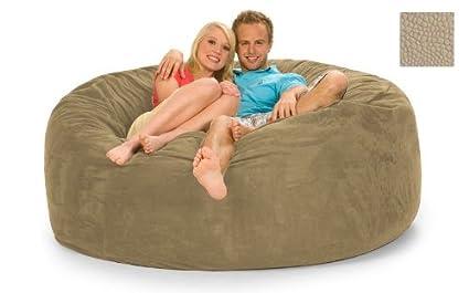 Miraculous Amazon Com 6 Foot Round Relax Sack Sand Pebble Inzonedesignstudio Interior Chair Design Inzonedesignstudiocom