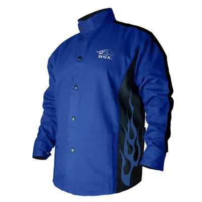 Revco BXRB9C-XL Welding Jacket, 9 oz. Flame Resistant Cotton Body, 30'', X-Large, Blue by Revco