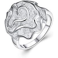 خاتم فاشن فضة مطلي للبنات
