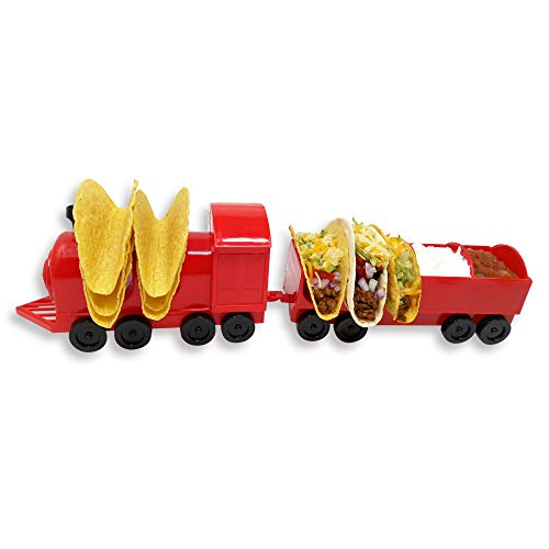 Taco Train Taco Party Holder Stand - Holds 5 Tacos and Salsa - The Ultimate Gift for Kids and Adults for Fun Taco Tuesdays - Perfect for Taco Twosday Kids Birthday Party - By Fyve Global by Fyve Global (Image #6)