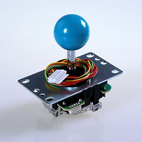 Sanwa JLF-TP-8YT Blue Ball Top HandleFAST SHIPPING Arcade Joystick Part 4 & 8 Way Adjustable - Hori Fight Stick Repair Part - Madcatz SF4 Tournament Joystick Compatible