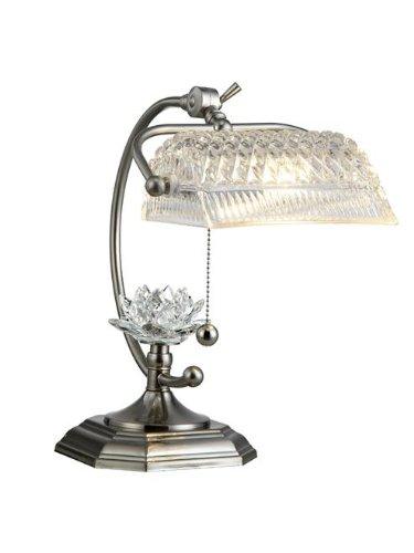 Dale Tiffany Gt12208 Althea Desk Lamp Satin Nickel