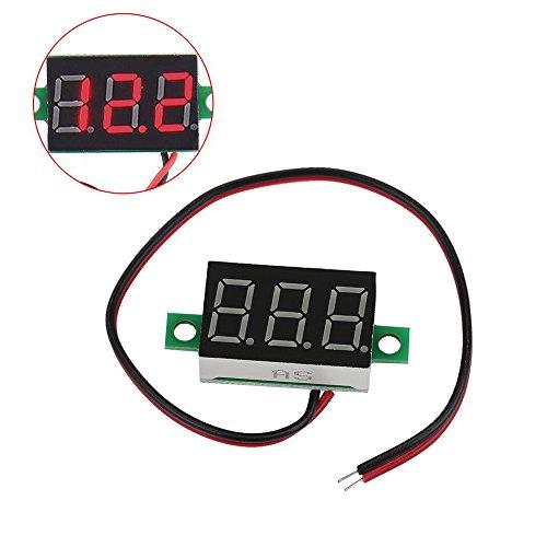 UTP 1PC Electric Red LCD Digital Panel Voltmeter Volt Meter DC 4.5-30V