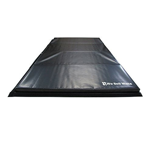 We Sell Mats GM4x8BKv4-50M Black 2'' Thick Gymnastics Tumbling Exercise Folding Martial Arts Mats with Hook & Loop Fasteners On 4 Sides Crosslink PE Foam Core by We Sell Mats (Image #4)