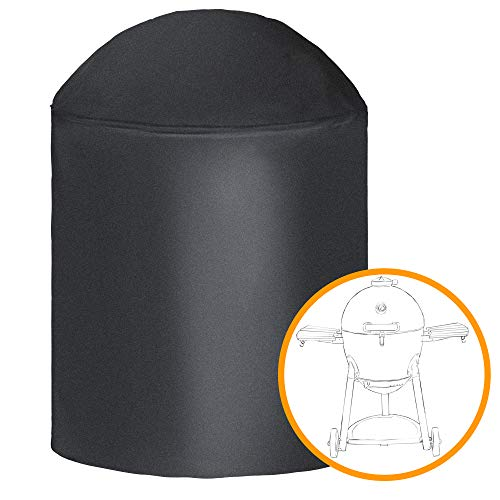 i COVER Round Grill Cover-39(Dia) x41(Tall) Water Proof Heavy Duty Outdoor Canvas BBQ Grill Cover Dome Smoker Cover Fits George Foreman Gfo3320 Gfo240 or Similar Size Grills