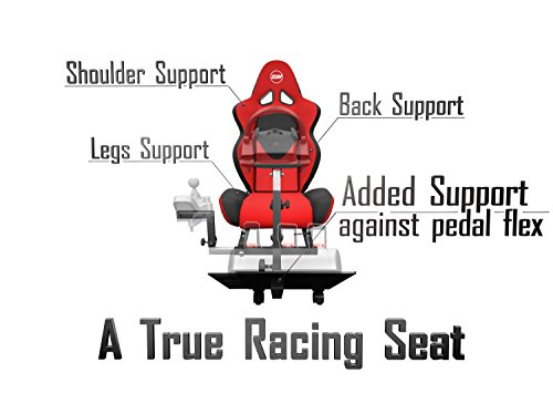 41ubCAquLcL - Openwheeler-Advanced-Racing-Simulator-Seat-Blue-Driving-Simulator-Gaming-Chair-with-Gear-Shift-Mount