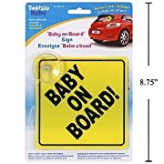 Tootsie Baby Baby On Board Sign with Suction Cup