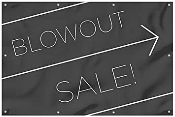 Basic Black Wind-Resistant Outdoor Mesh Vinyl Banner CGSignLab 12x8 Blowout Sale
