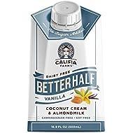 Califia Farms Vanilla Better Half Coffee Creamer, 16.9 Oz (Pack of 6) | Coconut Cream and Almondmilk | Keto | Half & Half | Dairy Free | Plant Based | Nut Milk | Vegan | Non-GMO