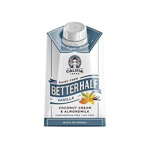 Califia Farms – Vanilla Better Half Coffee Creamer, 16.9 Oz (Pack of 6) | Half and Half | Coconut Cream and Almond Milk | Non Dairy | Plant Based | Vegan | Keto| Sugar Free | Zero Carb | Shelf Stable