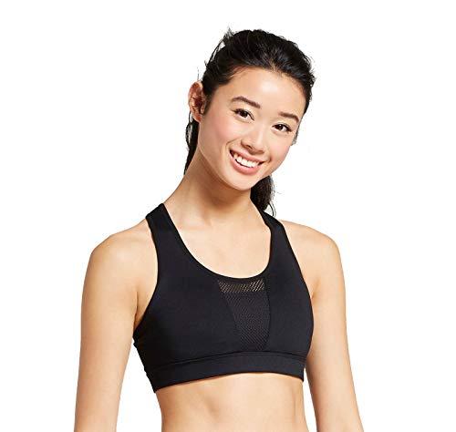 Champion C9 Women's Medium Support Power Core Compression Ventilated Mesh Sports Bra - Black - (XX-Large)