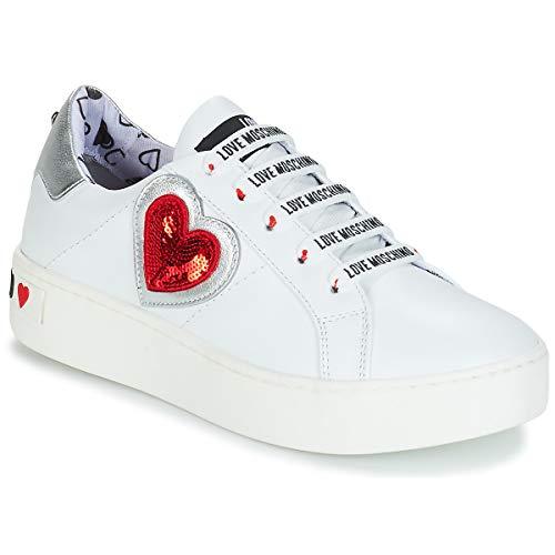 Femme Gymnastique Chaussures Multicolore Love Scarpad bianco argento Moschino 10a De cassetta35 qS7PAYw